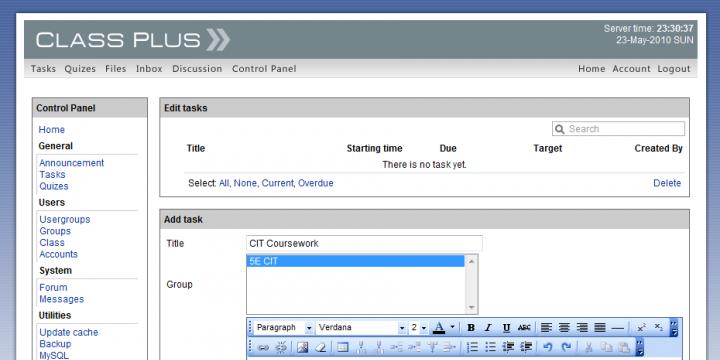 Admin panel - Add assignment (WYSIWYG)